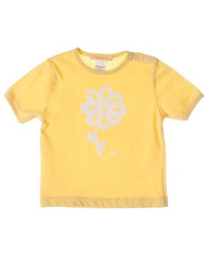 R: Miss Petit Boy Yellow S/S Shirt With Flower