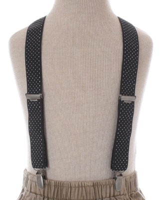 R: Contre Vents Et Marees Navy And White Suspenders With Bear
