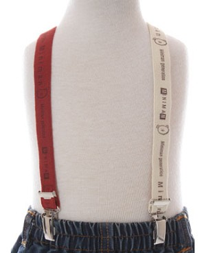 R: Miniman Dark Red And Cream Suspenders