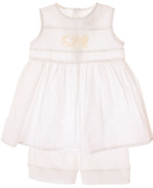 R: Contre Vents et Marees White Sleeveless Dress With Shorts