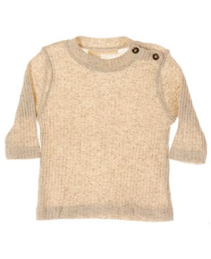 R: Contre Vents et Marees Cream L/S Shirt  With Brown Buttons