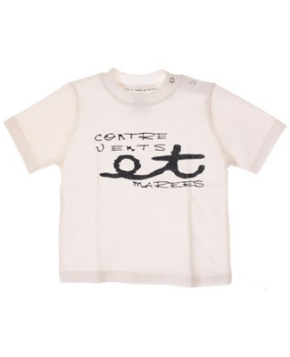 R: Contre Vents et Marees White S/S Shirt  With Navy Writing