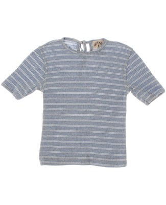 R: Miss Petit Boy Blue And White Striped S/S Shirt