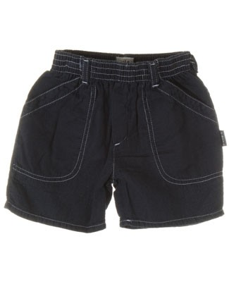 R: Petit Boy Navy Shorts With Fine Waffle Print