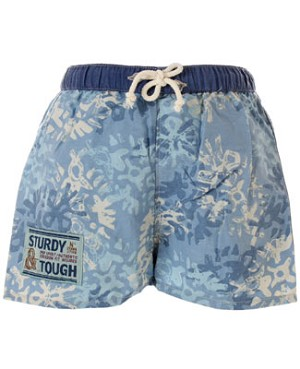 R: Petit Boy Light Blue With White Swim Shorts