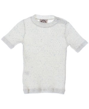 R: Petit Boy Cream With Blue Speckles Shirt