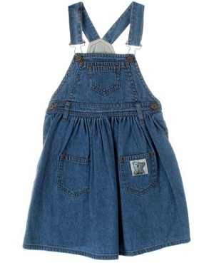 R: Petit Boy Blue Denim Overall Dress