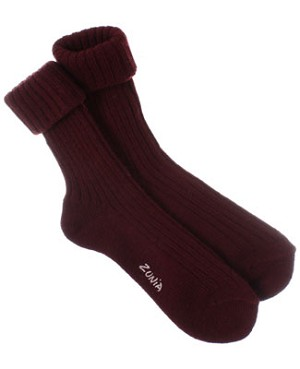 R: Zunia Burgandy Socks