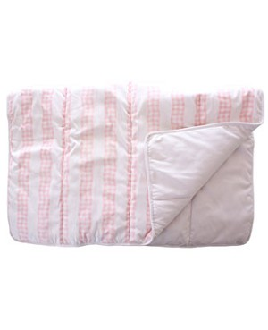 R: The Vicarage Pink And White Crib Comforter