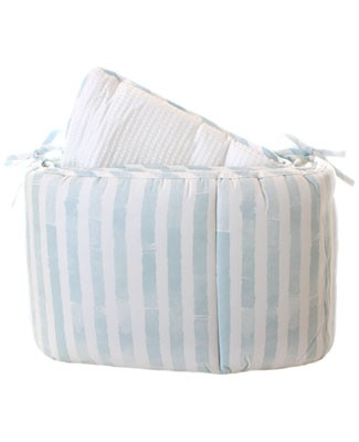 R: The Vicarage Blue And Cream Crib Bumper