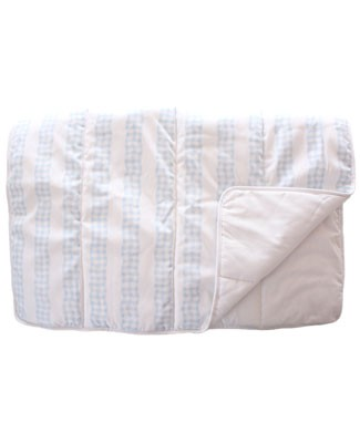 R: The Vicarage Blue And White Crib Comforter