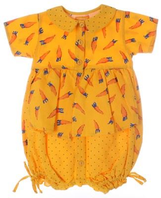 R: Marese Yellow Carrot Romper
