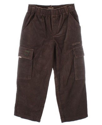 R: Alphabet Brown Corduroy Cargo Pants