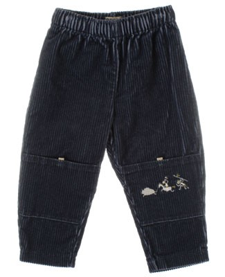 R: Alphabet Blue Corduroy  Pants