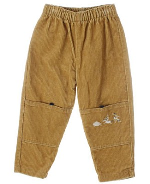 R: Alphabet Yellow Corduroy  Pants