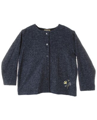 R: Alphabet Blue L/S  Sweater With White And Yellow Flowers