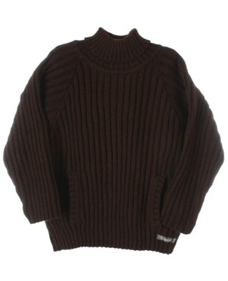 R: Alphabet Brown L/S  Turtleneck Sweater