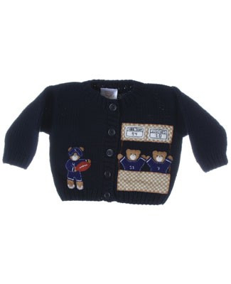 R: Victoria Kids Navy Football Sweater