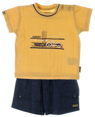 R: Pampolina Boys Yellow Top And Short Set