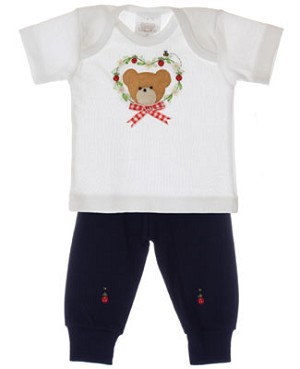R: Victoria Kids White Top With Navy Pants