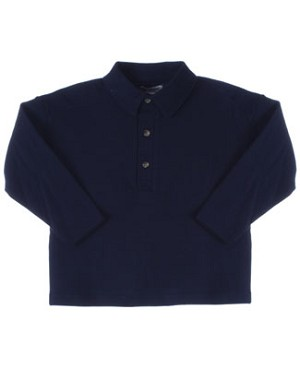 R: Alphabet Navy Polo Shirt