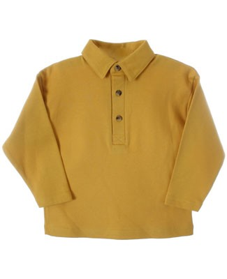 R: Alphabet Yellow Polo Shirt