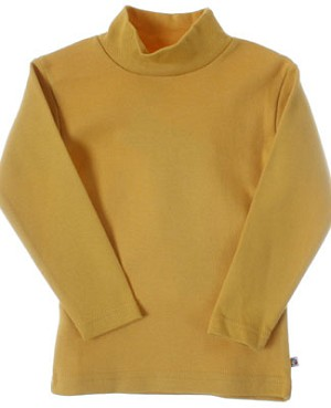 R: Alphabet Yellow Mock Turtleneck Shirt