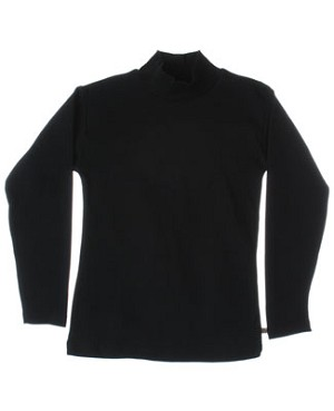 R: Alphabet Black Mock Turtleneck Shirt