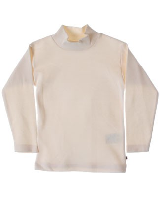 R: Alphabet Cream Mock Turtleneck Shirt