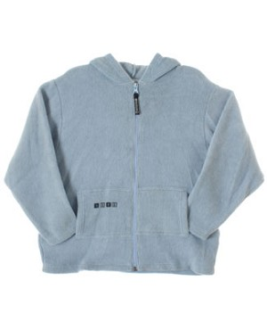R: Alphabet Light Blue L/S Zip up Lightweight Jacket With Pockets