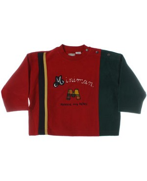 R: Miniman Red And Green L/S Top