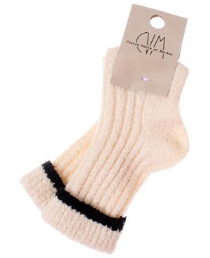 R: Contre Vents Et Marees Cream Socks With Black Edge