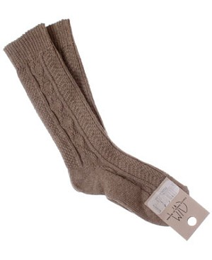R: Contre Vents Et Marees Sand Color Dress  Socks
