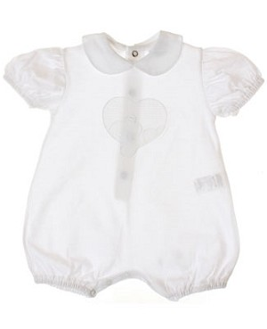 R: P&C White Romper With Heart And Bear