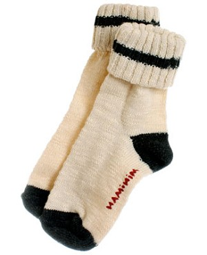 R: Miniman Cream Socks With Black Accents