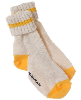 R: Miniman Cream Socks With Yellow Accents