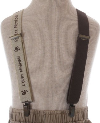 R: Miniman Brown And Cream Suspenders