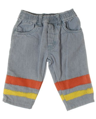 R: Chipie Blue Pants With Salmon And Yellow