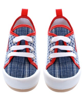 R: Miniman Red, Navy And White Canvas Shoe