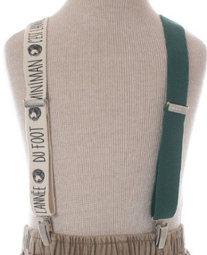 R: Miniman Green And Cream Suspenders