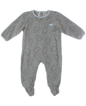 R: Chevignon Baby L/S Grey Bear Pajamas