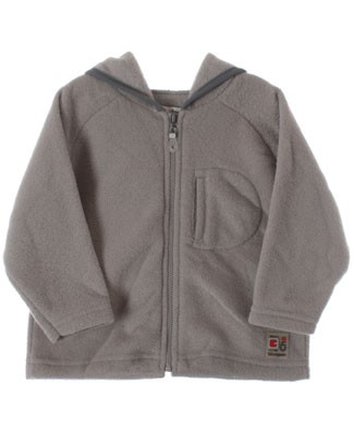 R: Chevignon Baby Grey L/S Hooded Zip up Top