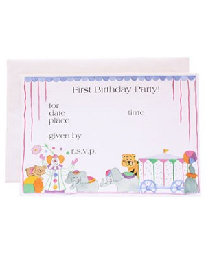 R: 1st Birthday Circus Invitations
