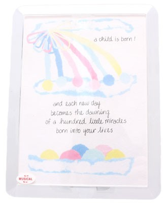R: Musical Moments New Baby Framed Card
