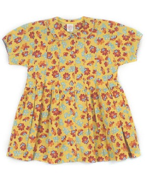 2T: Cake Walk Fall Floral Button Up Dress
