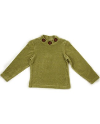 10y: Jean Bourget *HINDI* Sage Velour L/S Top