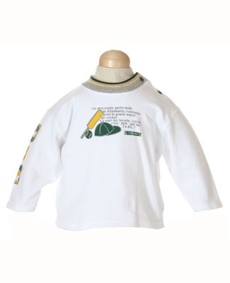 12m : Klim Babys White L/S Cricket Shirt
