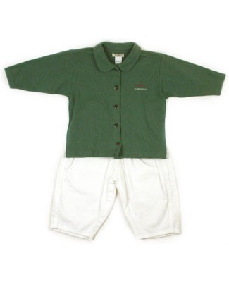 : Klim Baby's Klim Family Green Polo & White Pants
