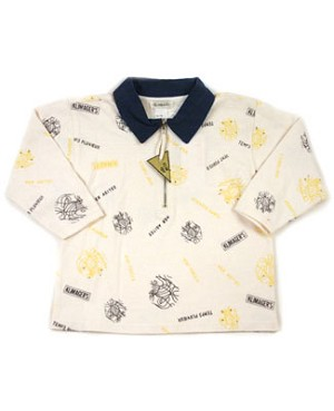 18m: Klim Baby's Stormy Waters Cream Print Zip Shirt
