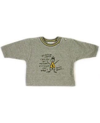 6m : Miniature Grey Sweatshirt